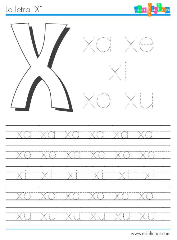 sílabas con x