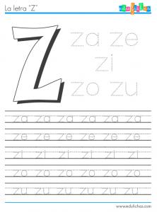 silabas con z