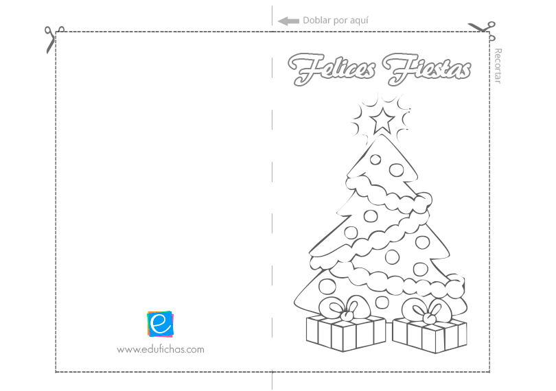 Postales navidad para imprimir tarjetas de navidad para - Postal navidena infantil ...
