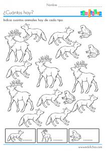 cartilla cuantos hay de animales