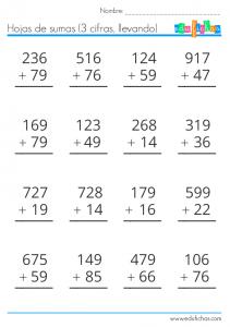 dos y tres cifras llevando