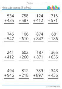 sumas de 3 cifras