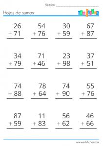 sumar numeros de dos cifras