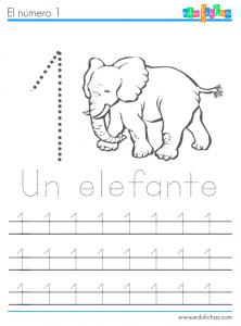 cuaderno de numeros y animales 1