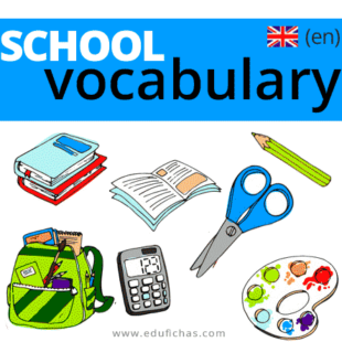 vocabulario escolar ingles