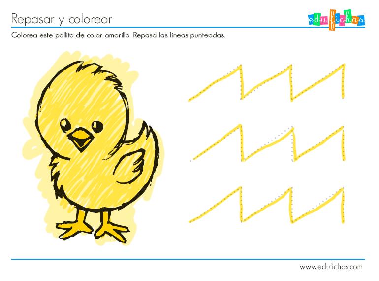 Actividad color amarillo - Cuadernos para niños