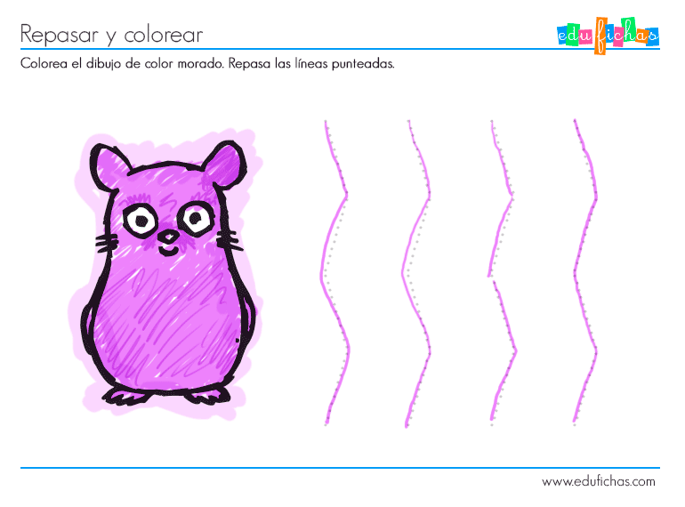 Actividad color morado - Cuadernos para niños