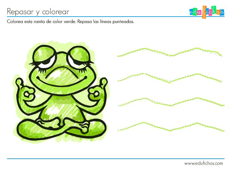 Actividad color verde - Cuadernos para niños