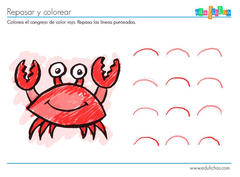 Actividad color rojo - Cuadernos para niños