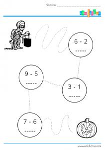 actividad-restas-grafomotricidad-halloween