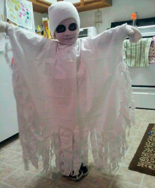 Disfraz de fantasma para niños
