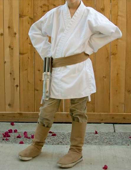 Disfraz Jedi hecho en casa