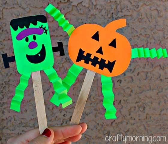 marionetas de halloween para niños
