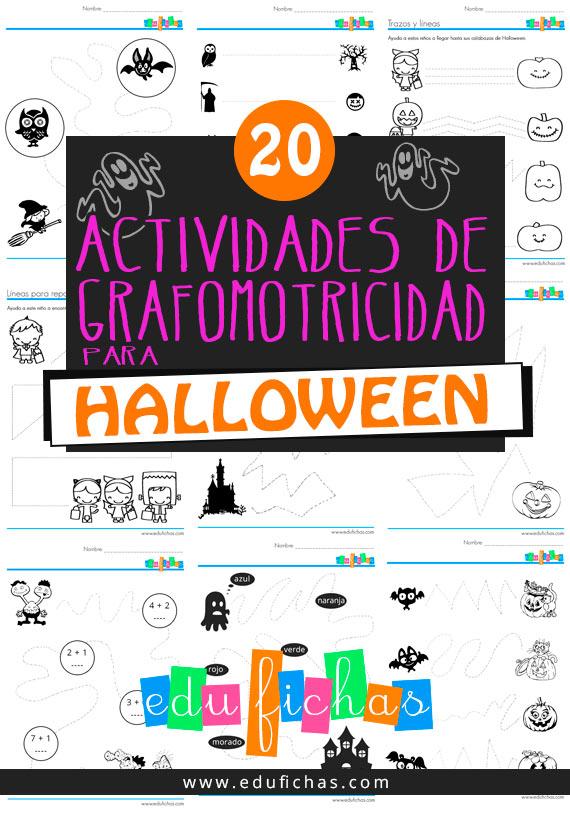 20 actividades de grafomotricidad para halloween