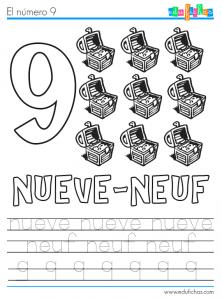 ficha numero 9 frances