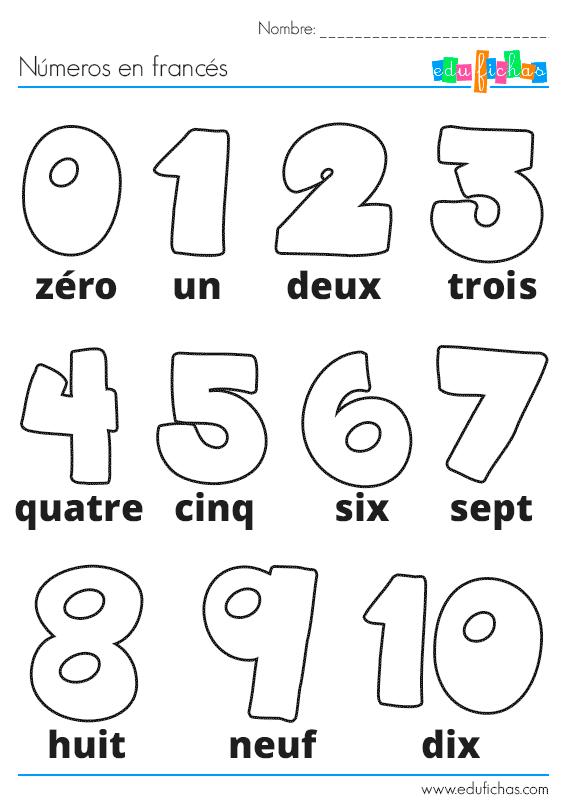 N meros en franc s para colorear franc s para ni os for Aprender a cocinar desde cero pdf