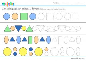 series logicas colores grafomotricidad