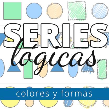 series lógicas colores y formas