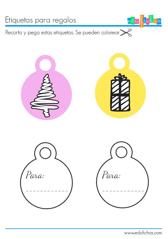 etiquetas de navidad para regalos