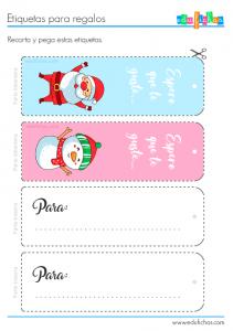 imprimir etiquetas para regalos