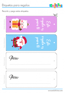 etiquetas para regalos infantiles