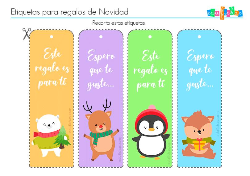 Etiquetas Para Regalos De Navidad Imprimir Etiquetas Gratis 2020