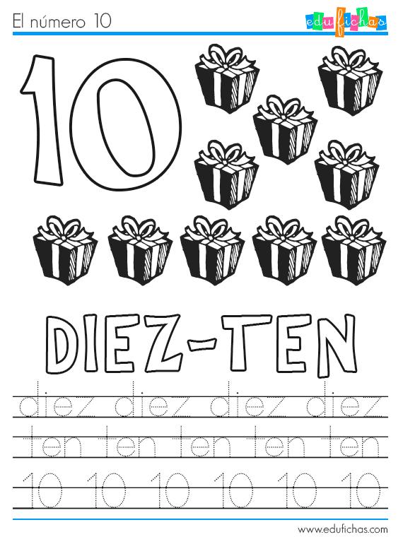 Fichas de Navidad de los números - Cuadernos para niños