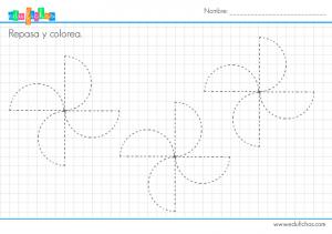fichas grafo formas para infantil