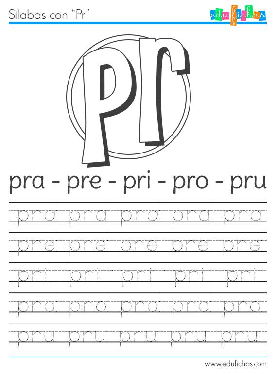 silabas con PR