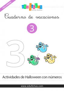 cuaderno de los numeros de halloween
