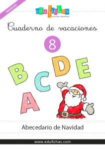 cuaderno de abecedario de navidad