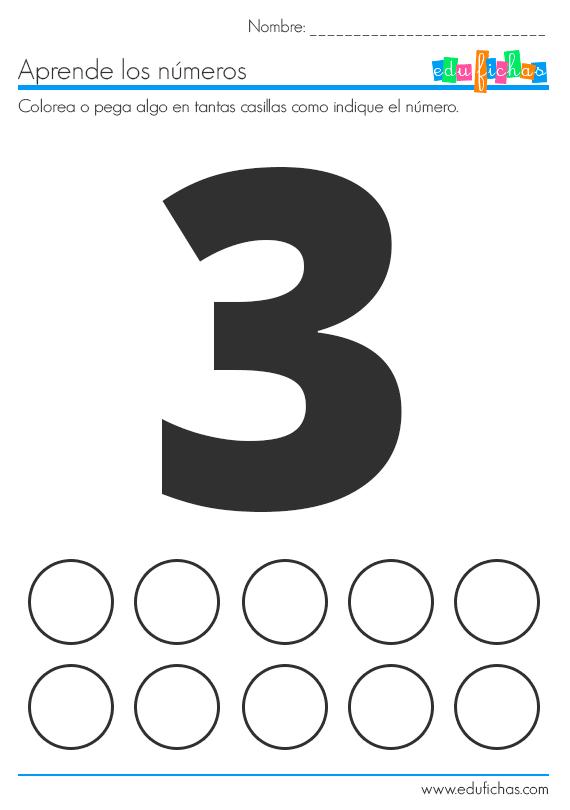 numeros con stickers
