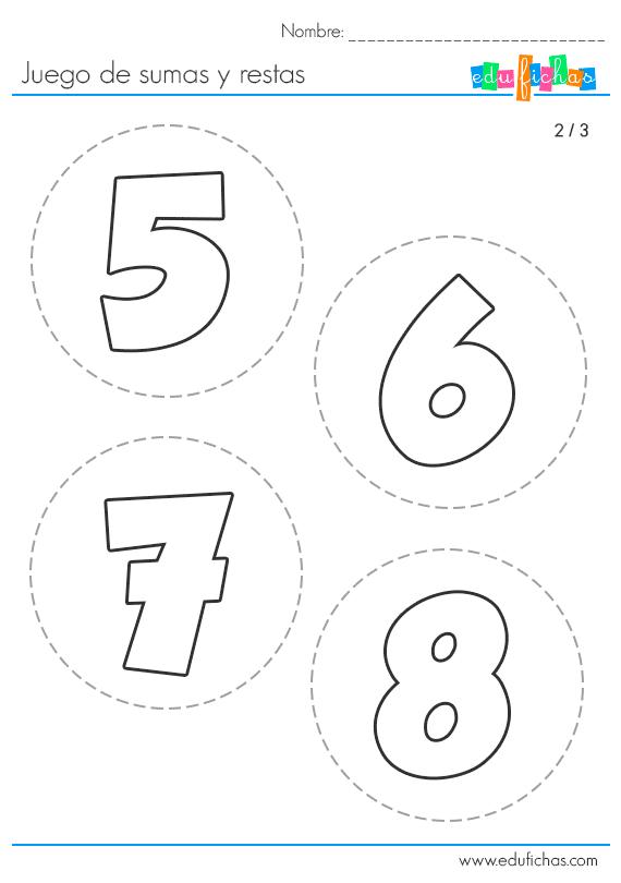 plantillas de numeros