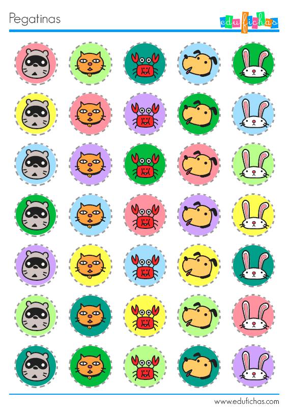 Pegatinas para imprimir stickers para fichas educativas for Stickers de pared infantiles