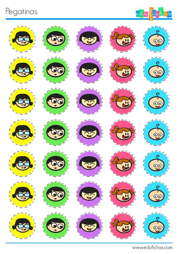 Pegatinas para imprimir stickers para fichas educativas for Pegatinas de pared infantiles