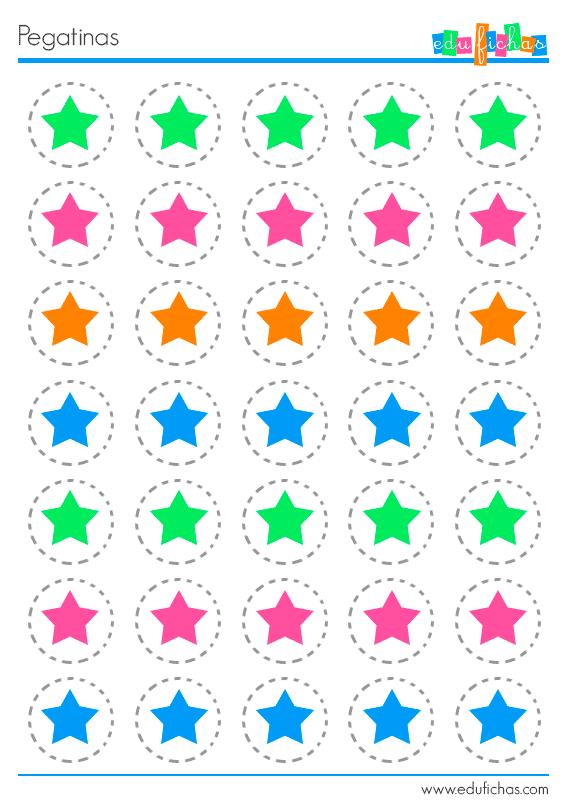 pegatinas de estrellas para imprimir