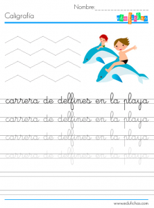 ejercicios caligrafia para niños