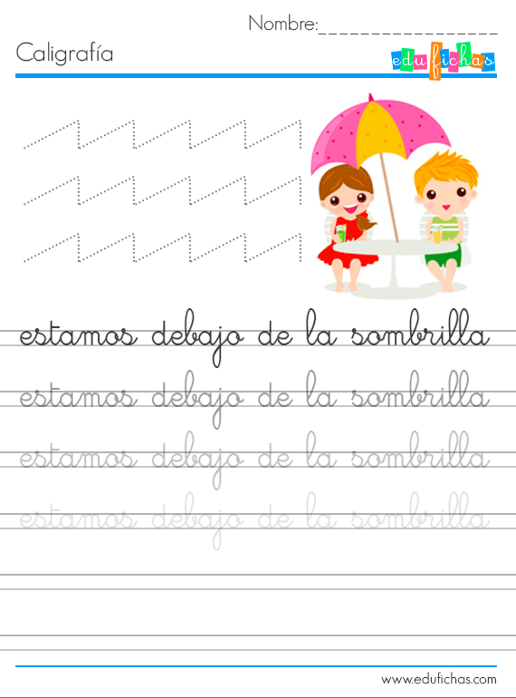 escritura para niños verano