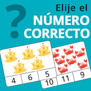 Elije el número correcto