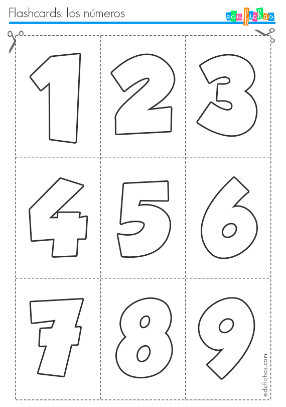 flashcards de numeros