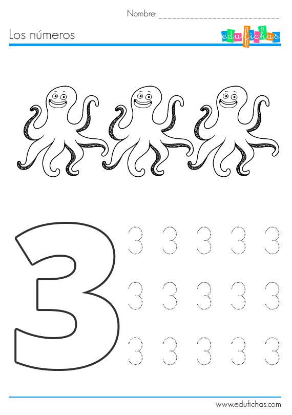 numeros con dibujos de verano