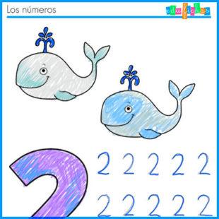 Fichas de números de verano