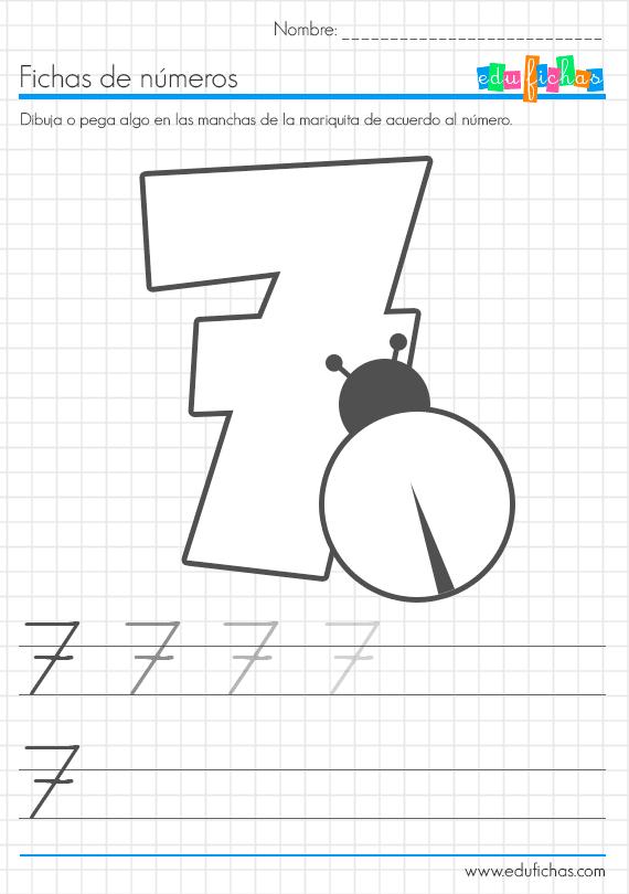 aprender los numeros 7