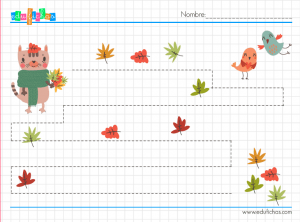 grafomotricidad infantil otoño