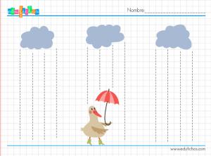 grafomotricidad lluvia