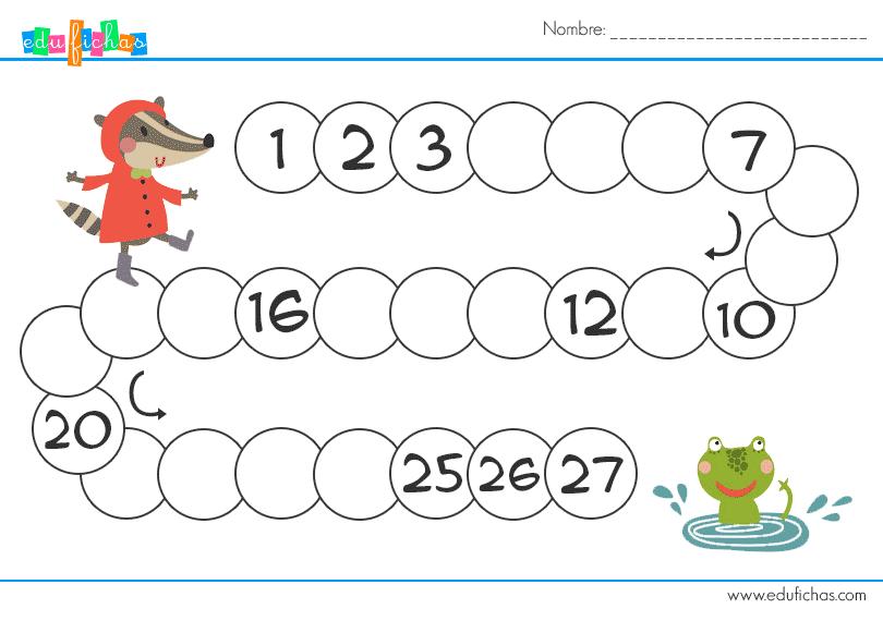 series numericas para niños