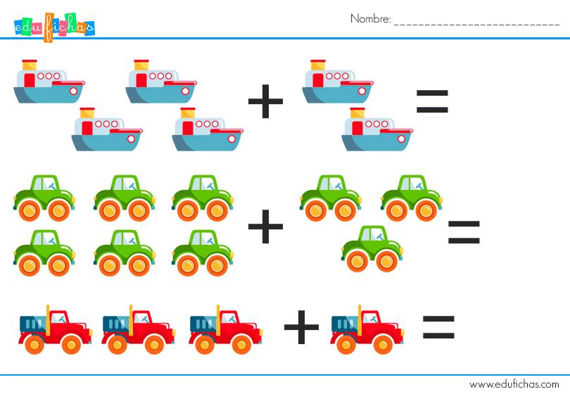 sumas graficas medios de transporte