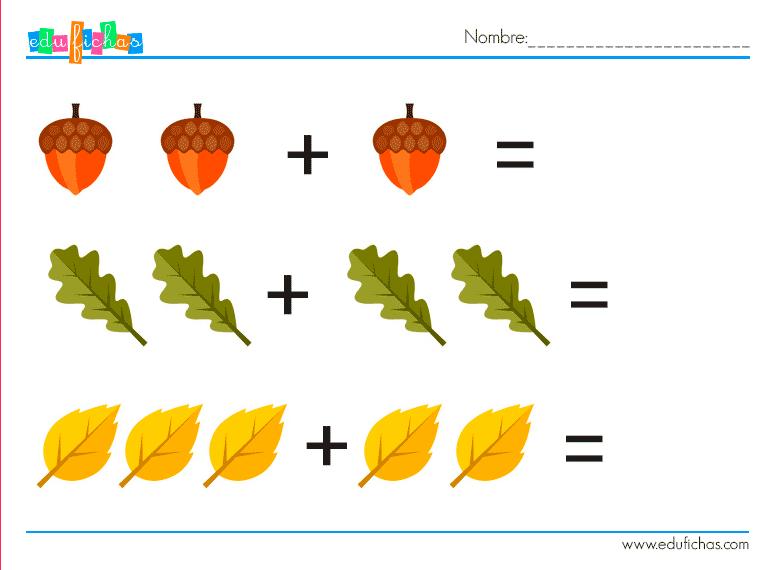 sumas graficas otoño