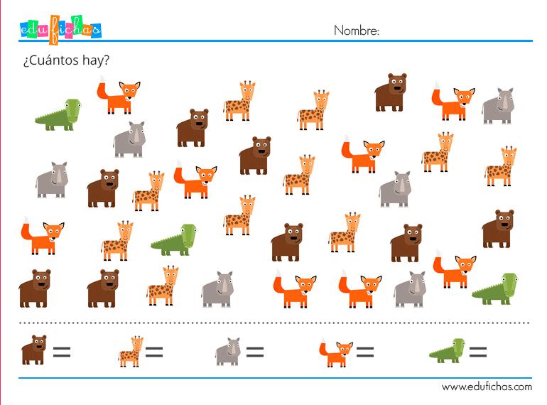 aprender a contar animales