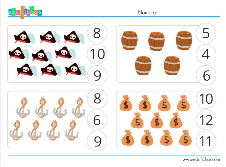 piratas cuantos hay actividades para niños
